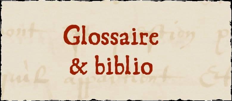 Glossaire et biblio